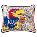 KU Embroidered Pillow