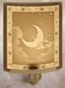 Man in the Moon Night Light by Porcelain Garden