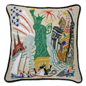 Lady Liberty Embroidered Pillow