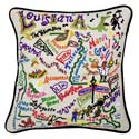 Louisiana Embroidered Pillow