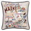 Maine Embroidered Pillow