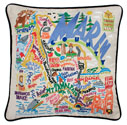 Marin County Embroidered Pillow