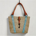 Mona B. Beckey Canvas Handbag