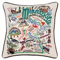Minnesota Embroidered Pillow