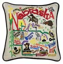 Nebraska Embroidered Pillow