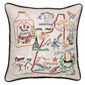 New Hampshire Embroidered Pillow