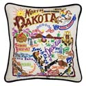 North Dakota Embroidered Pillow