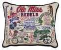 Ole Miss Embroidered Pillow