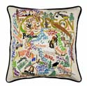 Oregon Embroidered Pillow