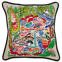 Portland Embroidered Pillow