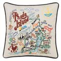 Rhode Island Embroidered Pillow