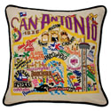 San Antonio Embroidered Pillow