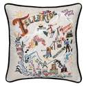 Ski Telluride Embroidered Pillow