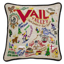 Ski Vail Embroidered Pillow
