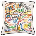 South Dakota Embroidered Pillow