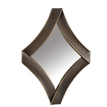 Diamond Metal Antique Gold Mirror by Split-P