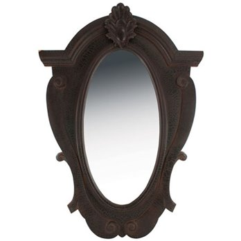 Ornate Wood Mirror Black by Split-P