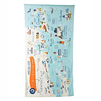 Spartina 449 Northeastern Harbors  Beach Towel