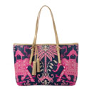 Spartina 449 Retreat Pink Elephant Large Tote