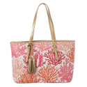 Spartina 449 Retreat Coral Large Tote