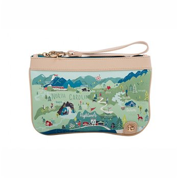 Spartina 449 Greetings from the Blue Ridge Mountains Zip Wristlet