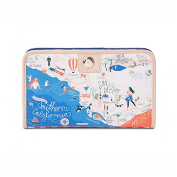 Spartina 449 Greetings from Southern California Snap Wallet