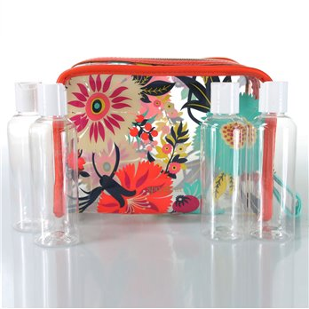 Spartina 449 Little Bermuda Vinyl Travel Bag with Clear Bottles - Limit One