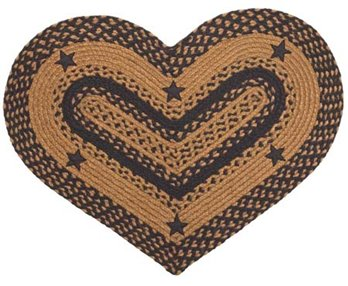 Star Black 20 X 30 Rug Heart