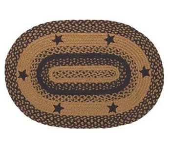 Star Black 20 X 30 Rug Oval