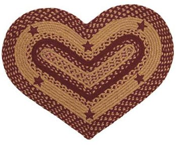 Star Wine 20 X 30 Rug Heart