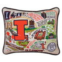 University of Illinois Embroidered Pillow