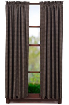 Kettle Grove Plaid Scalloped Short Panels 63 x 36