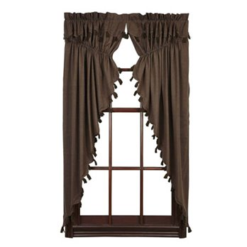 Carrington Prairie Curtain Set of 2 63x36