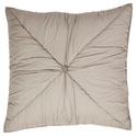 Camille Taupe Quilted Euro Sham