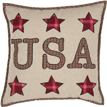 Liberty Stars USA Applique Pillow