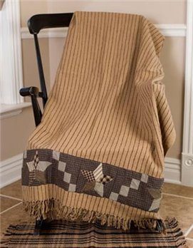 Farmhouse Star Applique Woven Throw