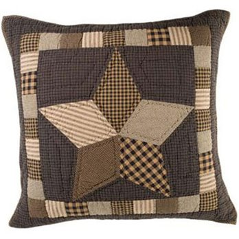 Farmhouse Star Quilted Euro Sham