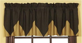 Kettle Grove Layered Plaid Valance 16 x 72