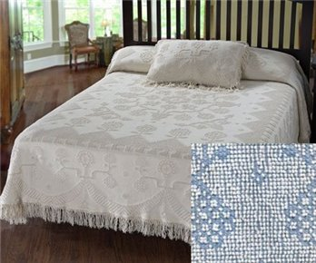 George Washington Bedspread Twin Blue