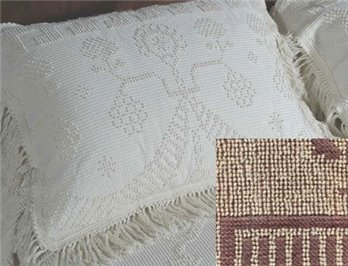 George / Martha Washington Standard Maroon Sham