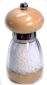 Mushroom Natural Salt Mill (6 in.)