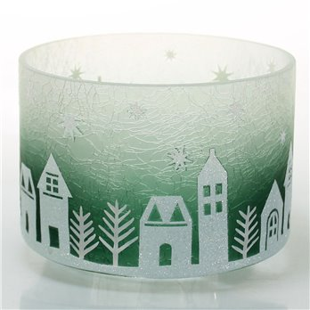 Yankee Candle Winter Village Barrel Shaped Jar Shade