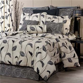 "Yvette Eclipse Cal King Thomasville Comforter Set (15"" bedskirt)"