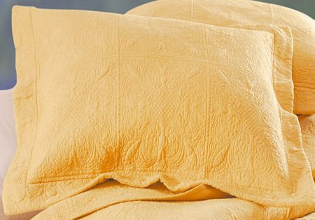 Solid Color Yellow Cornsilk Quilt Bedding From C Amp F