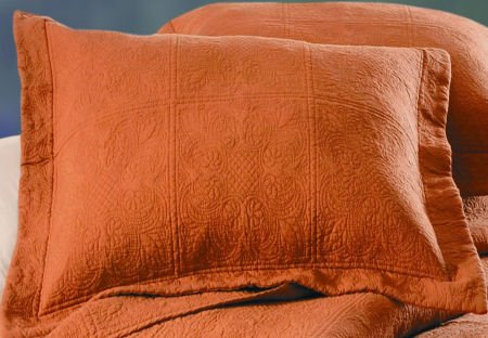 Solid Color Terra Cotta Quilt Bedding From C Amp F