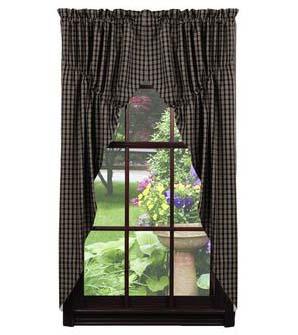 Cambridge Black Prairie Curtains 72 X 36 By Ihf Home D Cor