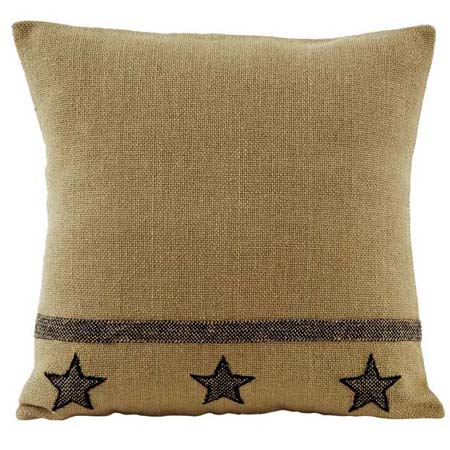 Burlap Star Pillow By Ihf Home D Cor