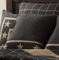 Burlap Star Black Pillow By Ihf Home D Cor