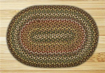Fir & Ivory Oval Braided Rug 20