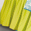 Blue Polka Dots King Bedskirt